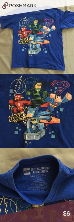 LEGO DC Super Heroes Large 10 12 Tee Tshirt Minimal fade from normal wash wear. Price firm unless bundled, Lego Shirts & Tops Tees - Short Sleeve