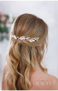 KALYPSO Flower Bridal Hair Pins With Crystals Rhinestone Wedding Headpiece