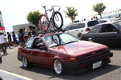 15x9.5 BBS RS on JDM AE86 Toyota Corolla 01