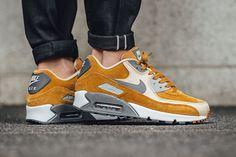 "On-Foot: Nike Air Max 90 Premium ""Desert Ochre/Linen"" - EU Kicks Sneaker Magazine"