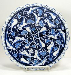 Turkish Ottoman Plate Iznik Pottery Dish by TheFrontHouse on Etsy