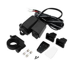 Kkmoon Motorcycle USB Charger Adapter Cigarette Lighter Power Socket Splitter 2.1A