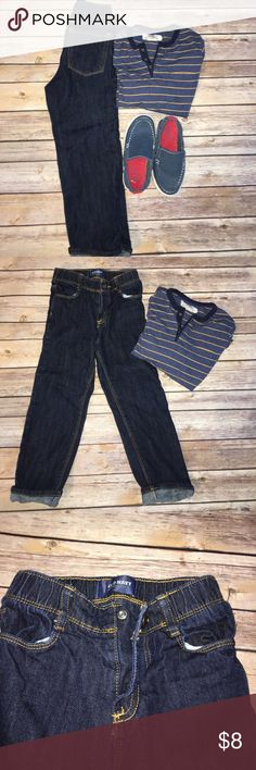 OLD NAVY 5T BOYS JEANS Best jeans for potty training! Elastic waste with easy snap button. Dark wash. Old Navy Bottoms Jeans