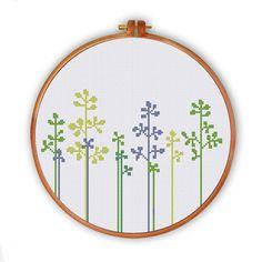 Hermosa hierba cruz puntada diseño moderno de descarga