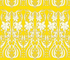 Daffodil yellow fabric on Spoonflower by Holly Zollinger
