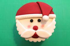 How to Make Santa Cupcake Toppers   cake decorating