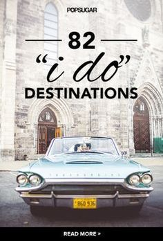The most dreamy destination wedding locations.