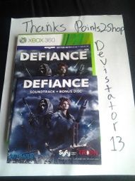 I ordered a used copy of Defiance. Spent about 3 days completing offers to get the points for this, this site is great. It came used with minor scratches from being played, worked perfectly, my copy also came with the soundtrack bonus CD :) ,and was delivered within just days of approving. Thanks P2S!!!