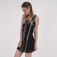 Vestido iO Sequins Negro. Los mejores vestidos para noche vieja en @Dafiti Chile