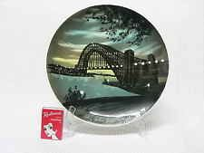 """Studio Anna Hand Painted Wall Plate - """"Sydney Harbour Bridge by Night"""""""