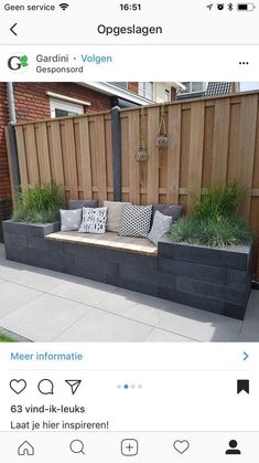 Outdoor living with modern outdoor banking inspiration - Diygardensproject.live- Leben im Freien mit moderner Outdoor-Bankinspiration … – Diygardensproject.live Outdoor life with modern outdoor banking inspiration - Terrace Garden, Garden Beds, Garden Plants, Garden Fences, Garden Borders, Garden Privacy, Backyard Privacy, Backyard Patio, Garden Tiles