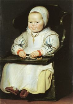 "1627, ""Susanna de Vos"" by Cornelis de Vos.t This is adorable!"
