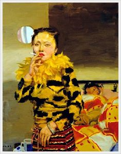 Por amor al arte: Yu Xiaodong Chinese Contemporary Art, Contemporary Paintings, Chinese Painting, Chinese Art, New Wave Artists, 20th Century Painters, Paintings Famous, Charlotte, Girls Series