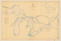 Great Lakes Historical Map - 1938