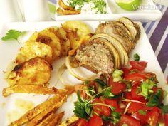 Pikantné fašírky na stojato so strúhankovými zemiakmi a kvakou - Recept Ale, Meat, Chicken, Food, Ale Beer, Essen, Meals, Yemek, Eten