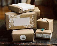 Packaging hecho en casa {papel craft} - Una Mosca en la Luna