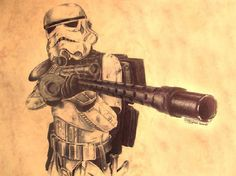 "You've got to ask yourself one question: ""Do I feel lucky?"" Well, do ya, padawan?  Check out more of T. Matynia's great Star Wars fan art HERE.  Stormtrooper by T. Matynia / ripley23  Via: geekleetist 