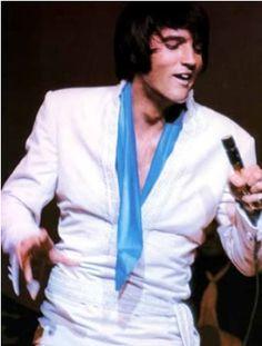 Elvis Presley In Concert 1969 White Cossack top 2 piece