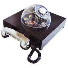 Scarce American Space Age Teledome Desk Telephone by Teleconcepts | From a unique collection of antique and modern desk accessories at http://www.1stdibs.com/furniture/more-furniture-collectibles/desk-accessories/