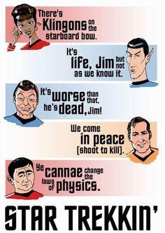 Star Trekkin' across the universe on the starship Enterprise under Captain Kirk! Star Trekkin' across the universe, only going forward cuz we can't find reverse! Star Trek Tv, Star Wars, Star Trek Original Series, Sci Fi Series, Starship Enterprise, Across The Universe, To Infinity And Beyond, Geek Out, Love Songs