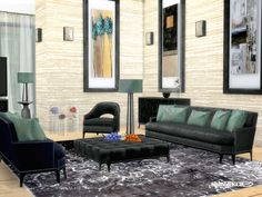 Contemporary Furnitureset inspired by the Designer Jean Louis Deniot Found in TSR Category 'Sims 4 Living Room Sets'