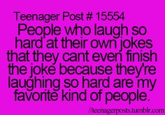 I have to be completely honest with you guys... This is so me my friends finally just give up and start laughing with Ms because they will never actually hear the end of the joke lol
