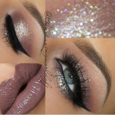 If you'd like to enhance your eyes and improve your natural beauty, having the very best eye make-up tips will help. You'll want to be sure you put on make-up that makes you look even more beautiful than you already are. Kiss Makeup, Cute Makeup, Gorgeous Makeup, Pretty Makeup, Sparkle Eye Makeup, Silver Glitter Eye Makeup, Glamorous Makeup, Amazing Makeup, Eyebrow Makeup