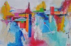 Harmony, schilderij van Kunstenares Mir, Mirthe Kolkman   Abstract   Modern   Kunst