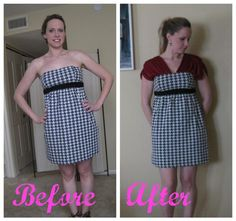 Adding modesty to a strapless dress (and roll tide!)
