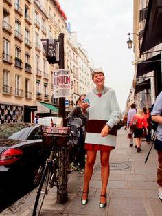 on the street....Paris