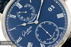 """Glashütte Original Senator Chronometer Blue Watch - Learn the story behind the dial at: aBlogtoWatch.com - """"In 2014, we wrote a 'hands-on' sponsored post of the then new Glashütte Original Senator Chronometer Regulator released at Basel 2013. It was the first new Chronometer model to come out since the original debuted in 2009. At Baselworld this year, Glashütte Original came out with a new variant..."""""""