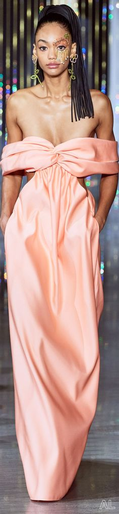 Area SPRING 2020 READY-TO-WEAR Ny Fashion Week, Spring Summer Fashion, Ready To Wear, Peach, Couture, Formal Dresses, How To Wear, Women, Orange