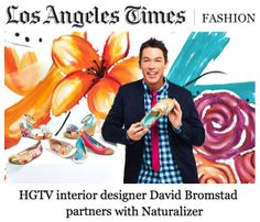 "Thanks to LA Times for featuring the #Bromstad4Naturalizer #spring collection in today's fashion focus! The collection is described as ""sunny"" with a ""vacation-y vibe."""
