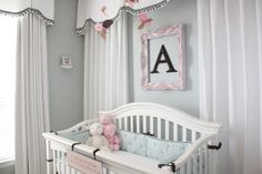 Use this for back of crib styling (with Castle instead of Letter) and for corner deco.... also wall color