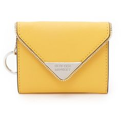Rebecca Minkoff Molly Metro Wallet (€70) ❤ liked on Polyvore featuring bags, wallets, sunshine, rebecca minkoff, real leather wallet, leather key ring, yellow leather wallet and slim wallet