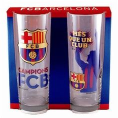 Official FC Barcelona Tumbler / Glass set (Pair of 2)