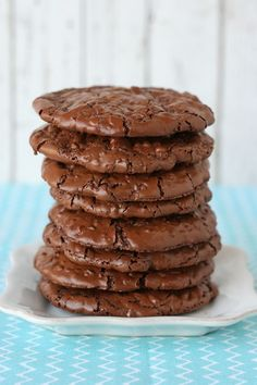 Flourless Chocolate Cookies - Rich, Fudgy and so delicious!!  glorioustreats.com @Glorious Treats