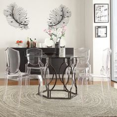 INSPIRE Q Concord Black Nickel Plated Round Glass Dining Table | Overstock.com Shopping - Great Deals on Inspire Q Dining Tables