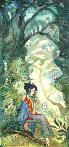 Lady Eboshi | by Catherine Esguerra | Princess Mononoke | Miyazaki | Studio Ghibli