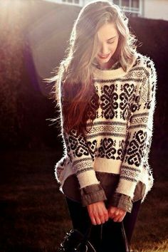 Love the knitted jersey! #fashion #stylish #knitted