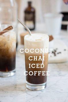 coconut chai iced coffee | designlovefest