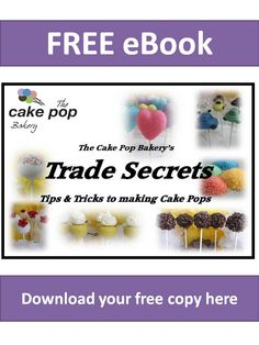 A culmination of the tips & tricks we have discovered making Cake Pops everyday.  Download your FREE copy from http://www.thecakepopbakery.com.au/Our-Range.aspx?id=8  The Cake Pop Bakery