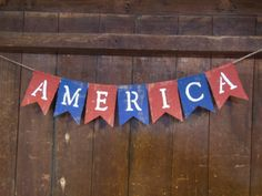 America Banner America Bunting Patriotic by IchabodsImagination, $22.00