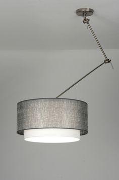 Hanglamp hout het snoer is gemaakt van zwart linnen en is for Pendelleuchte extra lang