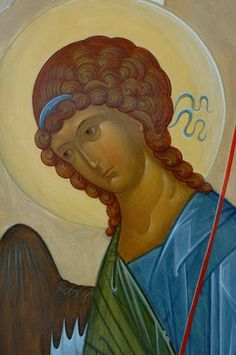 Whispers of an Immortalist: Holy Angels 7 Archangel Gabriel, Archangel Michael, Byzantine Icons, Byzantine Art, Religious Icons, Religious Art, Crafty Angels, Andrei Rublev, Trinidad