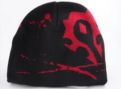 J!NX : World of Warcraft Horde Crest Beanie - Clothing Inspired by Video Games & Geek Culture