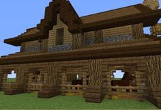 Horse Stable 2 - GrabCraft - Your number one source for MineCraft buildings, blueprints, tips, ideas, floorplans! Minecraft Horse Stables, Minecraft Barn, Minecraft Kingdom, Minecraft Mansion, Minecraft Medieval, Minecraft Construction, Minecraft Blueprints, Cool Minecraft, Minecraft Buildings