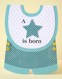 Gem's Cottage Blog » Blog Archive » Baby Boy Card (with template!)