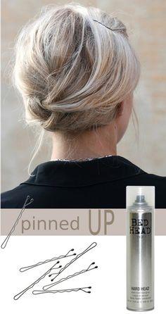 Hair up, effortless pinning