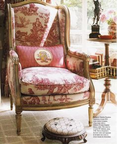 Charles Faudree, Country French Decorating by Better Homes & Gardens. Spring Summer 2006...I love 'wingback' chairs!!